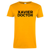 Ladies Gold T Shirt-Xavier Doctor