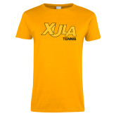 Ladies Gold T Shirt-Tennis