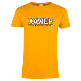 Ladies Gold T Shirt-Xavier University of Louisiana