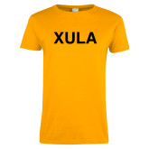 Ladies Gold T Shirt-XULA