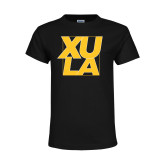 Youth Black T Shirt-XULA with Square