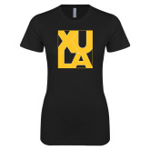 Next Level Ladies SoftStyle Junior Fitted Black Tee-XULA in Square