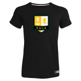Ladies Russell Black Essential T Shirt-Primary Mark