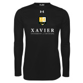 Under Armour Black Long Sleeve Tech Tee-Stacked Xavier