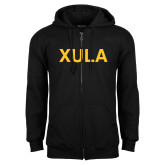 Black Fleece Full Zip Hoodie-XULA