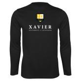 Performance Black Longsleeve Shirt-Stacked Xavier