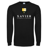 Black Long Sleeve T Shirt-Stacked Xavier