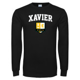 Black Long Sleeve T Shirt-Stacked Arch Design