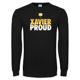 Black Long Sleeve T Shirt-Xavier Proud