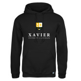 Russell DriPower Black Fleece Hoodie-Stacked Xavier