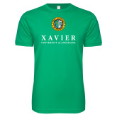 Next Level SoftStyle Kelly Green T Shirt-Xavier Seal Vertical