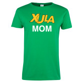 Ladies Kelly Green T Shirt-Mom