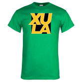 Kelly Green T Shirt-XULA with Square