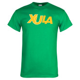 Kelly Green T Shirt-XULA Wordmark