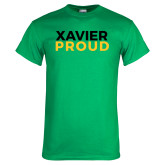 Kelly Green T Shirt-Xavier Proud