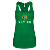 Next Level Ladies Kelly Green Ideal Racerback Tank-Xavier Seal Vertical