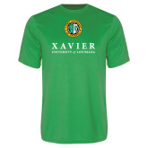 Performance Kelly Green Tee-Xavier Seal Vertical