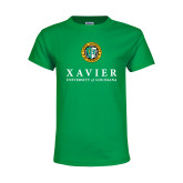 Youth Kelly Green T Shirt-Xavier Seal Vertical