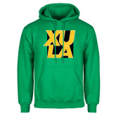 Kelly Green Fleece Hoodie-XULA with Square
