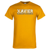 Gold T Shirt-Xavier Univeristy of Louisiana Distressed