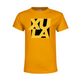 Youth Gold T Shirt-XULA with Square