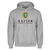 Grey Fleece Hoodie-Xavier Seal Vertical