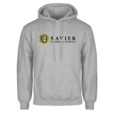 Grey Fleece Hoodie-Xavier Seal Horizontal
