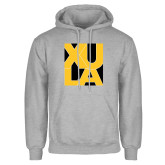 Grey Fleece Hoodie-XULA in Square