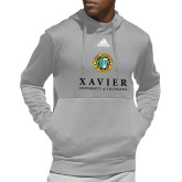 Adidas Grey Team Issue Hoodie-Xavier Seal Vertical