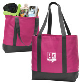 Tropical Pink/Dark Charcoal Day Tote-Primary Mark