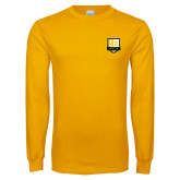 Gold Long Sleeve T Shirt-Primary Mark