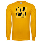 Gold Long Sleeve T Shirt-XULA with Square