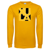 Gold Long Sleeve T Shirt-XULA in Square