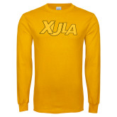Gold Long Sleeve T Shirt-XULA Wordmark