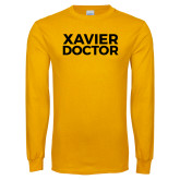 Gold Long Sleeve T Shirt-Xavier Doctor