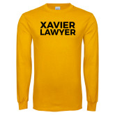 Gold Long Sleeve T Shirt-Xavier Lawyer