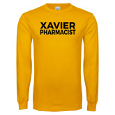 Gold Long Sleeve T Shirt-Xavier Pharmacist