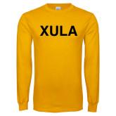 Gold Long Sleeve T Shirt-XULA