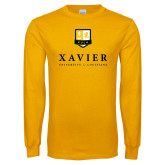 Gold Long Sleeve T Shirt-Stacked Xavier