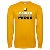 Gold Long Sleeve T Shirt-Xavier Proud