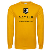Gold Long Sleeve T Shirt-College of Pharmacy