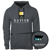 Contemporary Sofspun Charcoal Heather Hoodie-Stacked Xavier