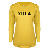 Ladies Syntrel Performance Gold Longsleeve Shirt-XULA