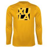 Performance Gold Longsleeve Shirt-XULA with Square