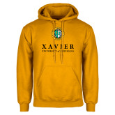 Gold Fleece Hoodie-Xavier Seal Vertical