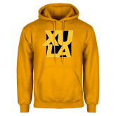 Gold Fleece Hoodie-XULA with Square