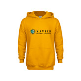 Youth Gold Fleece Hoodie-Xavier Seal Horizontal