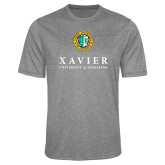 Performance Grey Heather Contender Tee-Xavier Seal Vertical