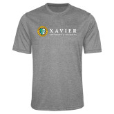 Performance Grey Heather Contender Tee-Xavier Seal Horizontal