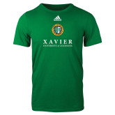 Adidas Kelly Green Logo T Shirt-Xavier Seal Vertical